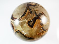 Septarian Sphere Carved Ball 3 Inches 1.5 Lb 644g Large Dragon Stone Specimen Meditation Intuition Gemstone Madagascar by SandiLaneFineArt on Etsy