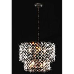 Give your decor a stunning update with this brilliant round crystal chandelier. Featuring an antique bronze finish and two tiers of crystals, this two-tiered indoor lighting fixture is sure to bathe your space in warm light and style. Round Crystal Chandelier, Crystal Light Fixture, Chandelier Pendant Lights, Crystal Drop, Light Fixtures, Bronze Chandelier, Drum Pendant, Light Pendant, Form
