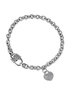 Pave Diamond Heart Charm Bracelet By Scott Kay At Gilt