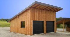 Garage double de 35 m² (Solaire Box) en ossature bois permettant d'accueillir 2 véhicules