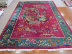 Deco-period Chinese #rug from the 1920s. A genuine Nichols Chinese #Deco #Chinese