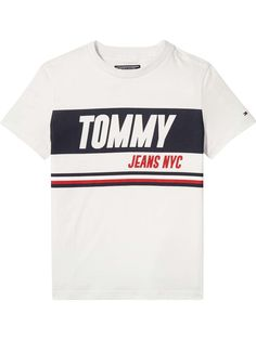 Tommy Hilfiger Boys Sporty Block Logo T-shirt - House of Fraser Baby Online, Kids Online, Tommy Hilfiger, Tommy Jeans T Shirt, Fashion Clothes, Fashion Outfits, Men's Sportswear, Summer Boy, Tee Design