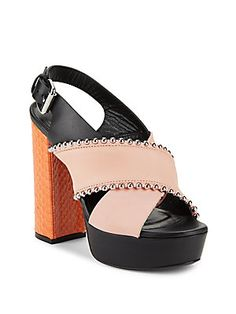 0d240cda4a0 McQ Alexander McQueen Studded Leather Sandals