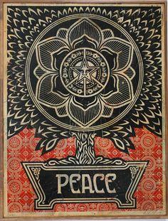 Shepard Fairey - Peace Tree #shepardfairey #jonathanlevinegallery