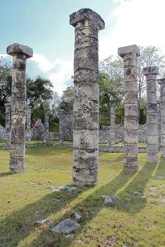 Old mayan pillar in chichen itza by Victor castillo, via 500px