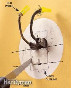 How to Connect Old Wiring to a New Light Fixture | Pinterest ...