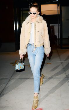 Gigi Hadid Can't Stop Wearing These Jeans via @WhoWhatWear