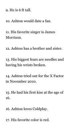 Ashton Irwin Facts:  Facts from Wattpad don't know the author if the book.