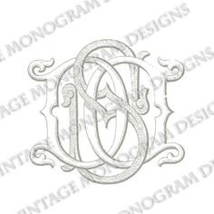DS monogram or SD monogram - vintage monogram scanned from antique book and provided in digital format.