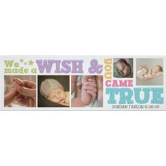 Personalized Our Wishes Came True Photo Canvas