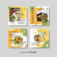 Food Menu Design, Food Poster Design, Ramen Comida, Instagram Design, Instagram Posts, Instagram Feed, Food Catalog, Food Template, Website Design Layout