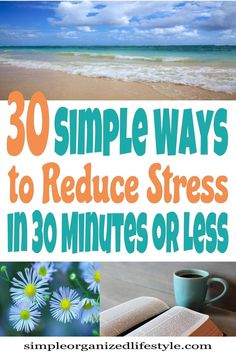 30 Simple ways to reduce stress and anxiety in 30 minutes or less. Tips, ideas, and natural remedies for reducing stress and improving life and health. Anxiety Remedies, Natural Remedies For Anxiety, Natural Health Remedies, How To Cure Anxiety, Anxiety Tips, Stress And Anxiety, 30 Minutes Or Less, Ways To Relieve Stress, Stress Relief Tips