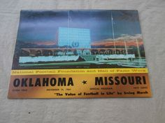NOV 14,1964 OKLAHOMA/MISSOURI COLLEGE FOOTBALL PROGRAM NM