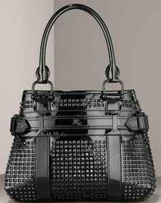 Burberry Rachel Studded Patent Tote