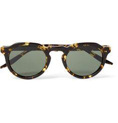 Barton Perreira - Ascot Round-Frame Tortoiseshell Acetate Sunglasses