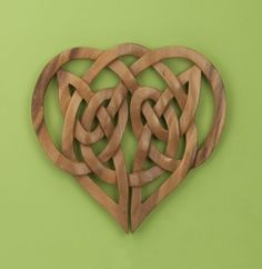 handcarved celtic knot heart mchalej
