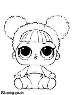 Color all of your favorite L. Baby Coloring Pages, Doodle Coloring, Coloring Pages For Kids, Coloring Sheets, Coloring Books, Lol Dolls, Queen Bees, Digital Stamps, Clipart