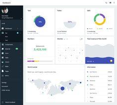 Web, dashboard, design, adaptive, bright, minimalism, charts, stats