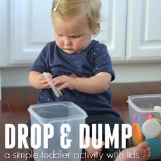 Toddler Approved!: Drop and Dump Toddler Lid Activity