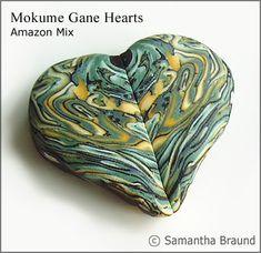 Amadora Designs UK Blog: Mokume Gane in Polymer Clay