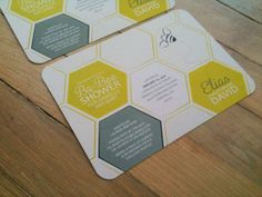 BABY BUMBLE BEE . Shower Invitation with Rounded Corners .