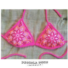Mandala Bikini Top Size Small by MandalaMinds on Etsy