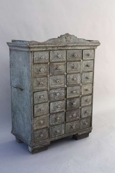 Wonderful Folk Art Tin Cabinet | From a unique collection of antique and modern more folk art at http://www.1stdibs.com/furniture/folk-art/more-folk-art/