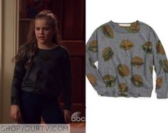 Nashville: Season 4 Episode 9 Daphne's Burger Print Sweater