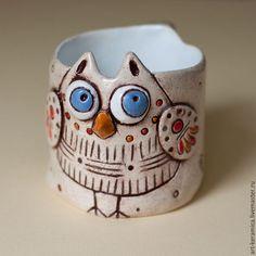 Cearmic cup owl / Кружки и чашки ручной работы. Ярмарка Мастеров - ручная работа. Купить Сова-кружка объемом 300-400 мл. Handmade.