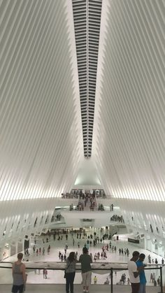 The Oculus at WTC, is a train station hub and Westfield Mall in Manhattan