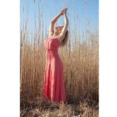 Bandeau Maxi Dress in Coral or Black Bamboo. #dress #fashion 9thelm.com