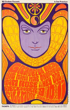 Grateful Dead/Big Mama Mae Thornton/Tim Rose, December 9 & 11, 1966 - Fillmore Auditorium (San Francisco, CA) Art by Wes Wilson