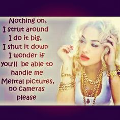 Love Rita Ora! Sassy One!