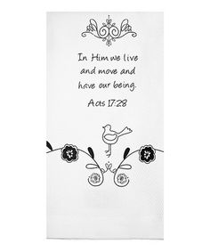 Look what I found on #zulily! 'In Him We Live' Tea Towel #zulilyfinds