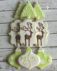 Prancer - Full Set - Reindeer / Christmas Decorated Sugar Cookies