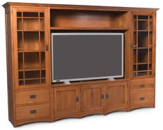 Prairie Mission Prairie Mission Wall Unit Entertainment Center by Simply Amish at Becker Furniture World Wall Units With Fireplace, Built In Wall Units, Amish Furniture, Mission Furniture, Pine Furniture, Audio Room, Diy Entertainment Center, Craftsman Style, New Homes