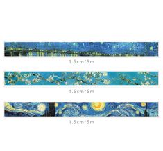 Indulge into scrapbooking and creative DIY projects with these gorgeous masking tapes. This adhesive paper tape set is perfect addition to your bullet journal spreads, planner pages or simply everyday notes. Bullet Journal Vintage, Bullet Journal Banner, Journal Stickers, Planner Stickers, Washi Tape Set, Duct Tape, Masking Tape, Kawaii Pens, Van Gogh Paintings