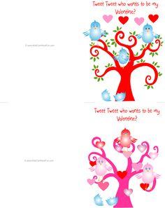 Valentine's Day Bird Valentine's Day Double-Sided Cards