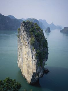 Karst Limestone Tower in Halong Bay, Vietnam
