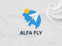Alfa Fly Travel Logo by Laachi Fly Travel, Travel Logo, Travel And Tourism, Logo Design Inspiration, Travel Inspiration, Sky Logo, Flat Logo, Logo Branding, Logos