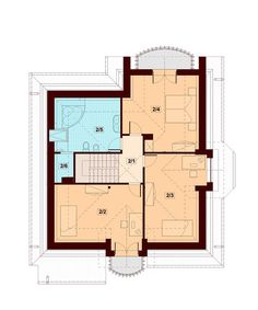 DOM.PL™ - Projekt domu DN Magnolia CE - DOM PC1-20 - gotowy koszt budowy Beautiful Small Homes, Bungalow House Plans, Magnolia, Building A House, Floor Plans, 1, Exterior, House Design, How To Plan