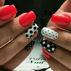 shan Nail Art day nails simple polka dots 5 Amazing Facts About Jessie Mills & Her Edible Nail Designs - Workout Plan Dot Nail Art, Polka Dot Nails, Polka Dots, Shellac Pedicure, Manicure, Pedicure Ideas, Red Shellac Nails, Trendy Nail Art, Super Nails