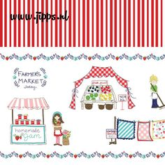 Vintage Market - Riley Blake, online stoffen #online_stoffen #stoffenwinkel #kinderstoffen