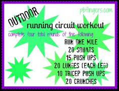 Outdoor Running Circuit Workout