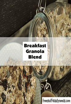 Breakfast Granola Blend - Free Stuff 4 Daily Needs Semi Sweet Chocolate Chips, Homemade Breakfast, Free Stuff, Granola, Crockpot Recipes, Crock Pot, Slow Cooker, Vegetarian, Snacks