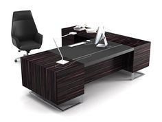DECK LEADER | Mesa de escritório executiva Mesa de escritório executiva retangular de madeira by ESTEL GROUP