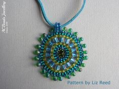 Beaded Teal Pendant Necklace