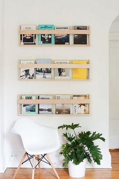 DIY magazine racks