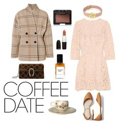 """""""love and lattes"""" by ratjuli ❤ liked on Polyvore featuring Dolce&Gabbana, Totême, Gucci, Henri Bendel, NARS Cosmetics, Gap and CoffeeDate"""