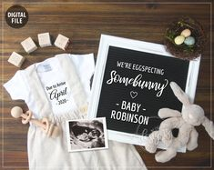 Easter Pregnancy Announcement, April Baby Announcement Eggspecting Somebunny, Personalized Social Me - Modern Baby Announcement Grandparents, Easter Pregnancy Announcement, Unique Baby Announcement, Cute Baby Announcements, Big Sister Announcement, Erwarten Baby, Egg Baby, Expecting Baby, Baby Shower